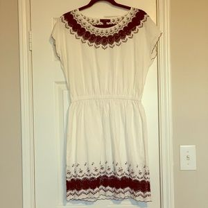 Linen Navy and White Dress